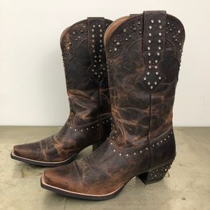 Ariat Ladies Rhinestone Cowgirl Boots Sassy Brown